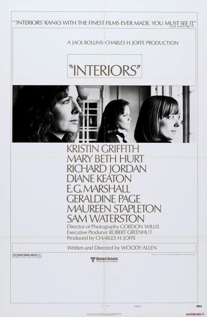 Interiors Ad Poster (1978 Woody Allen)